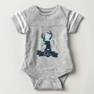Body Para Bebé Pequeño hombre de los ciervos, personalizado, mono