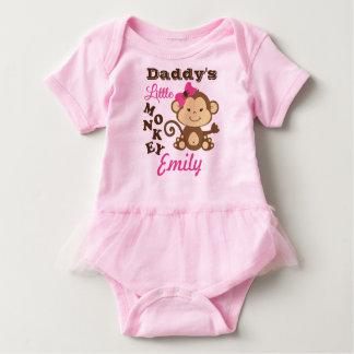 Body Para Bebé Pequeño mono del rosa del mono del papá con el