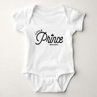 Body Para Bebé Pequeño príncipe Modern Typography Personalized