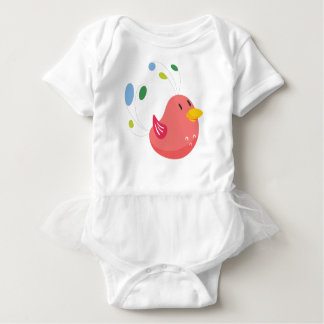 Body Para Bebé pequeño vuelo lindo del pájaro y canto