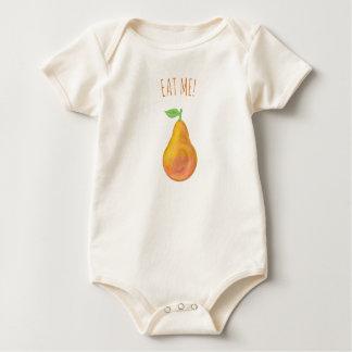 Body Para Bebé Pera amarilla
