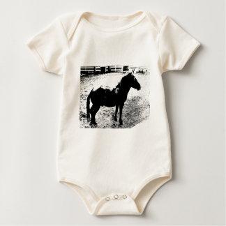 Body Para Bebé Perfil de la mula en blanco y negro