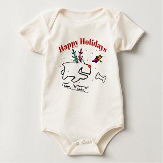 Body Para Bebé Perrito con la libélula buenas fiestas
