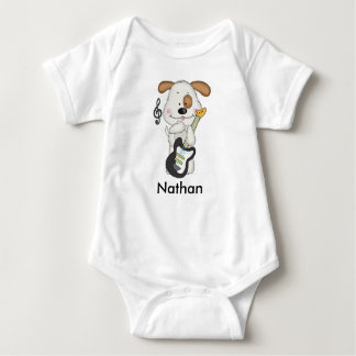 Body Para Bebé Perrito del rock-and-roll de Nathan