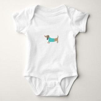Body Para Bebé Perrito dibujado mano linda