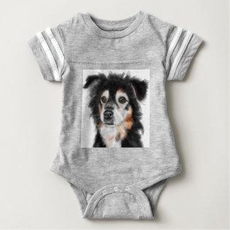 Body Para Bebé Perro blanco y negro