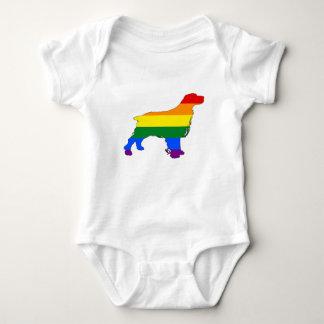 Body Para Bebé Perro de aguas del arco iris
