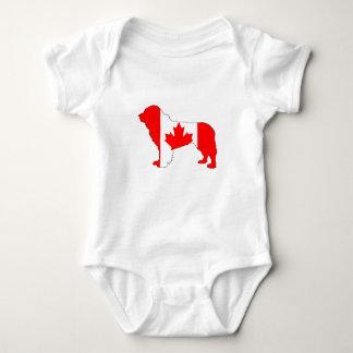 Body Para Bebé Perro de Canadá Terranova