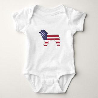 """Body Para Bebé Perro de Terranova - """"bandera americana """""""