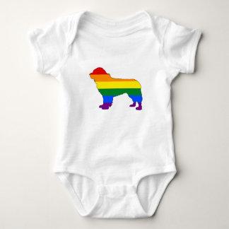Body Para Bebé Perro de Terranova del arco iris