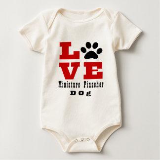 Body Para Bebé Perro Designes del Pinscher miniatura del amor