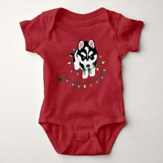 Body Para Bebé Perro esquimal con el equipo del bebé de las luces