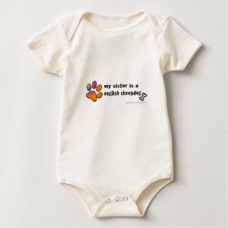 Body Para Bebé perro pastor inglés