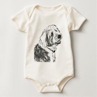 Body Para Bebé Perro pastor inglés viejo