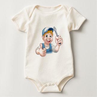 Body Para Bebé Personaje de dibujos animados de la manitas del