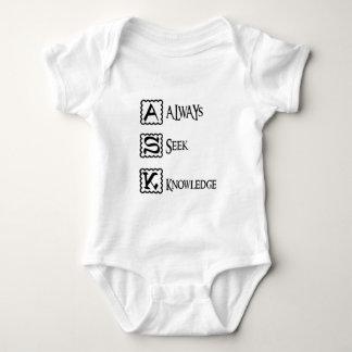 Body Para Bebé Pida, busque siempre el conocimiento