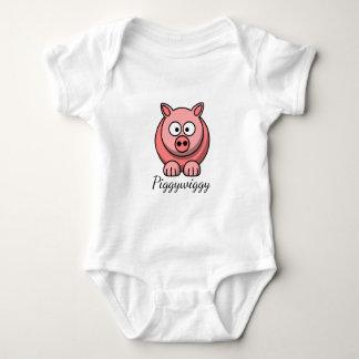 Body Para Bebé PiggyWiggy poco cochinillo lindo en colores pastel