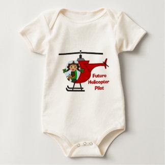 Body Para Bebé Piloto futuro adorable, piloto del helicóptero -