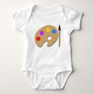 Body Para Bebé Pinte la paleta y cepíllela