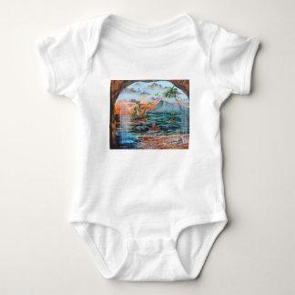 Body Para Bebé Pintura de Bell del chapucero de la ensenada del