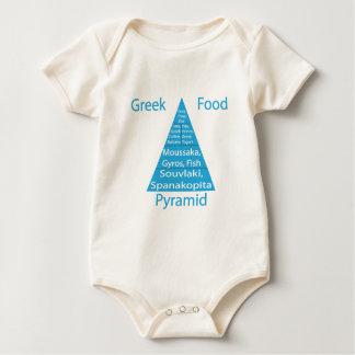 Body Para Bebé Pirámide de alimentación griega