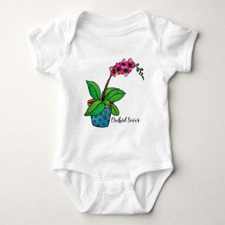 Body Para Bebé Planta de la orquídea de la acuarela en pote