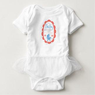 Body Para Bebé Plantilla redonda del diseño de la invitación de