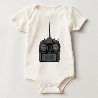 Body Para Bebé Plata del efecto negativo/radio roja de Spektrum
