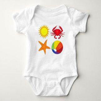 Body Para Bebé Playa de Beachball de la sol de las estrellas de