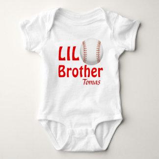 Body Para Bebé Poco Lil hermano mayor/béisbol del primo/de la