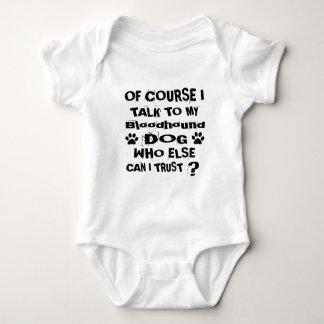 Body Para Bebé Por supuesto hablo con mis diseños del perro del
