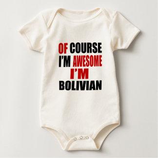 BODY PARA BEBÉ POR SUPUESTO SOY IMPRESIONANTE YO SOY BOLIVIANO