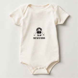 Body Para Bebé primer día de escuela