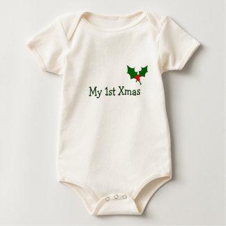 Body Para Bebé Primer equipo del navidad del bebé con acebo