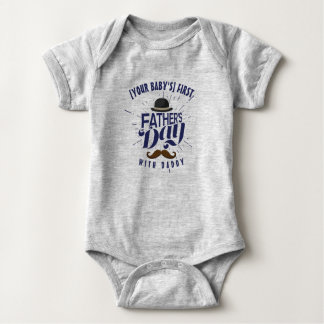 Body Para Bebé Primer mono de Onsie del bebé del día de padre del