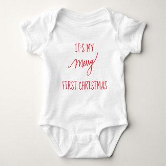 Body Para Bebé Primer navidad moderno del navidad el   del bebé
