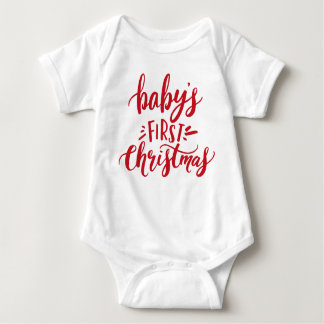 Body Para Bebé Primeras letras de la mano del navidad del bebé