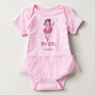 Body Para Bebé Princesa linda Baby Ballerina Personalized del