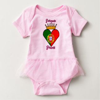 Body Para Bebé Princesa portuguesa Tutu Bodysuit