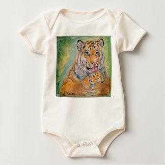 Body Para Bebé Puente de bebé con los tigres
