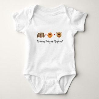 """Body Para Bebé """"Puente de bebé del gato del polluelo del perro"""""""