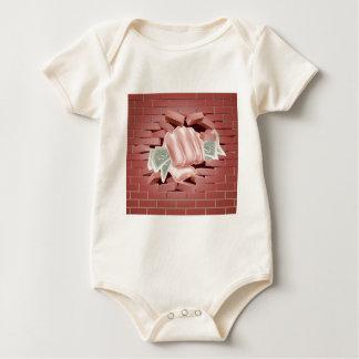 Body Para Bebé Puño del dinero que perfora a través de la pared