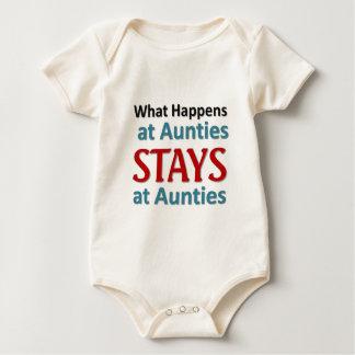 Body Para Bebé Qué sucede en las tías