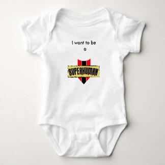 Body Para Bebé Quiero ser un superhumano