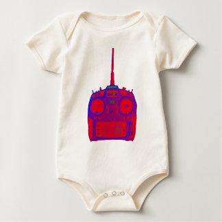 Body Para Bebé Radio roja/púrpura del efecto negativo de Spektrum