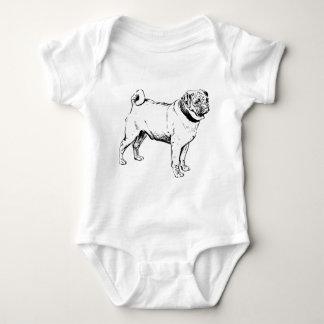 Body Para Bebé Raza del perro del barro amasado