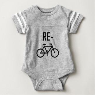 Body Para Bebé Recicle la bici de la bicicleta