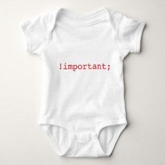 Body Para Bebé regalo importante del padre del empollón del css