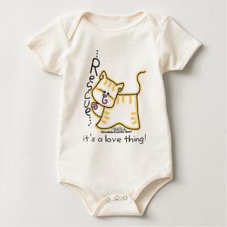 Body Para Bebé ¡Rescate amarillo del Tabby… es una cosa del amor!