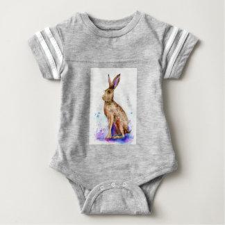 Body Para Bebé Retrato de las liebres de la acuarela